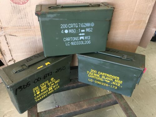 ONE - 30 Cal Ammo Can Army Military M19A1 Metal Storage Box 7.62 MMBoxes & Chests - 165616