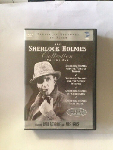 Sherlock Holmes Basil Rathbone 3 vol 12movies dvd Canadian release .