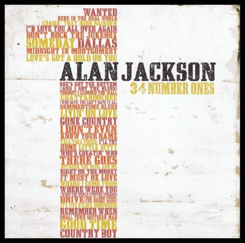 ALAN JACKSON (2 CD) 34 NUMBER ONES ~ GREATEST HITS / BEST OF *NEW*