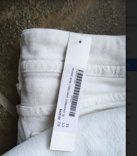 brand new Hudson USA white courdroy flares, size 30 (RRP $425)