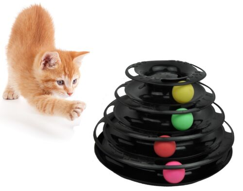 Purrfect Feline Titan's Tower - Interactive Cat Toy, New Safer Bar Design