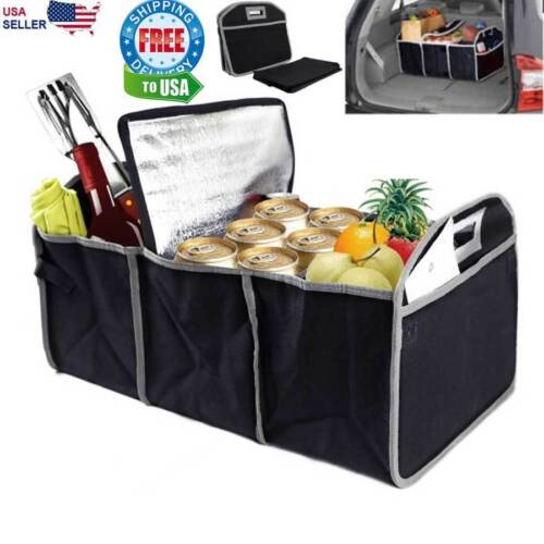 Trunk Organizer Storage Bin Bag Collapsible Fold Grocery Caddy Car Truck Auto  <br/> Free Ship* Perfect for Trunks, Shopping, etc