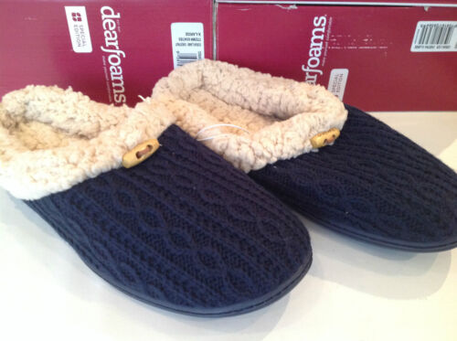 Dearfoams Special Edition Cable Knit Slippers XL 9-10 UK