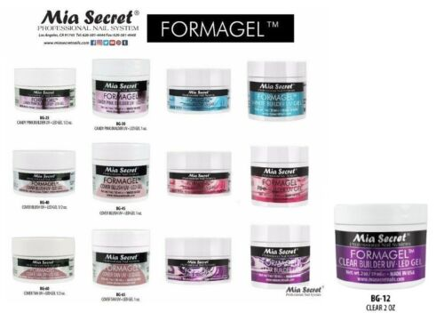 Mia Secret Formagel Builder UV Gel -PICK ANY FROM 7 COLORS /2 SIZES