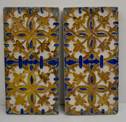 Spanish Tile Set = 2 Antique Spain