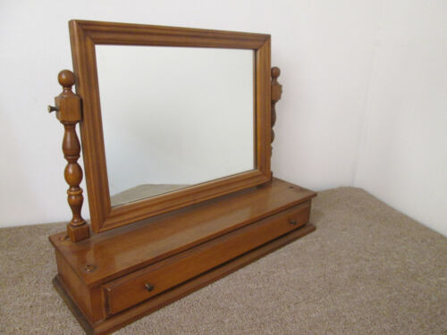 58383   Solid maple Shaving Mirror with drawer