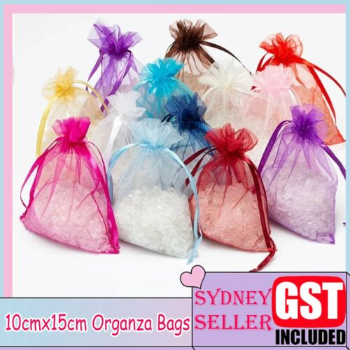 10-100x Organza Bags Candy Wedding Christmas Candy Jewellery Packaging 10x15cm