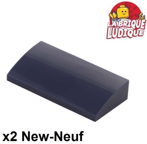 4x Slope curved pente courbe 4x1 rouge foncé//dark red 61678 NEUF Lego