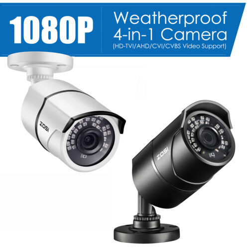 ZOSI HD 1000TVL 960H 100ft 3.6mm Outdoor Video CCTV Security Camera Power Supply