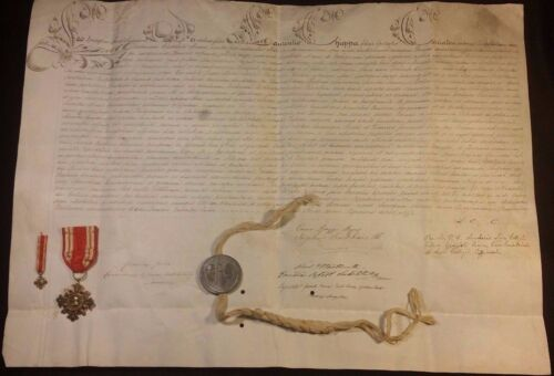 POPE LEO XIII BULLA on LARGE PARCHMENT with SEAL LEAD 1878 & MEDAL 1888 Papst