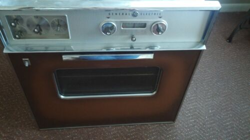 Vintage 1959 General Electric Wall Oven and Stove Top Range