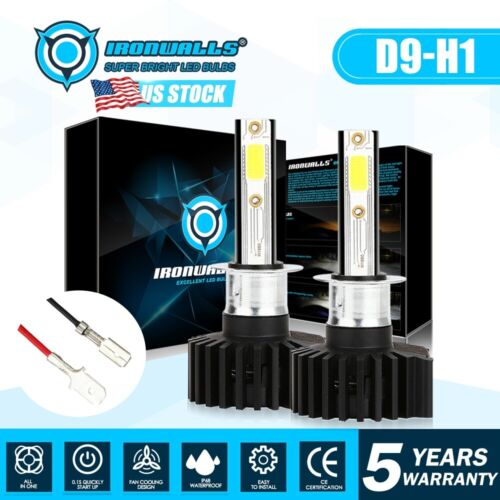 2019 Upgrade H1 1900W 6000K White LED Headlight Conversion Bulb High Lo Beam Kit <br/> US Stock, C.E DOT, 5 Ys Warranty, Factory Direct Sale!