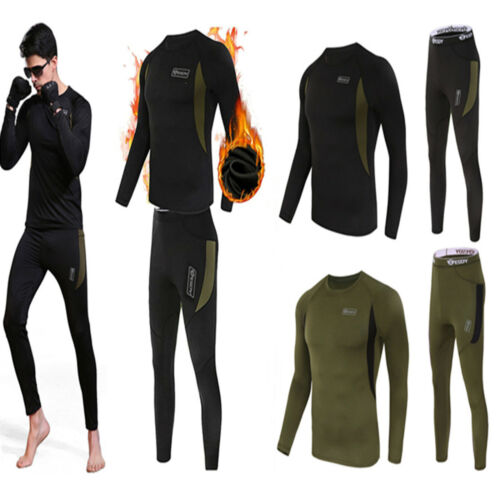 Thermal underwear sets Men Winter Long Johns Sweat fleece quick drying thermo