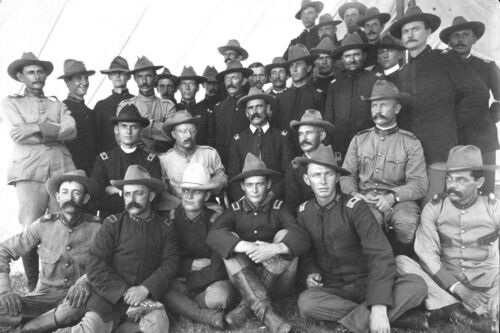 1898 Photo-Theodore Roosevelt and Rough Riders Officers-Montauk, New YorkReproductions - 156386