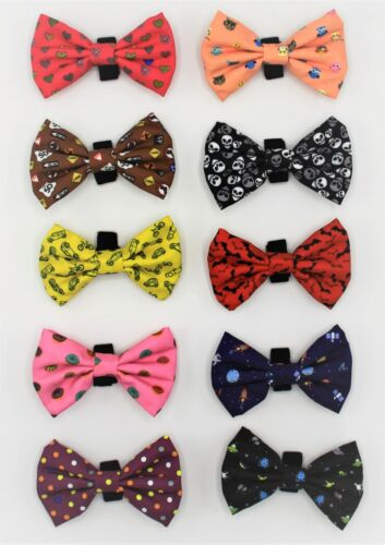 NEW Geniusgogo Removable Printed Soft Unisex Dog/Pet Bow Tie Attaches to Collars