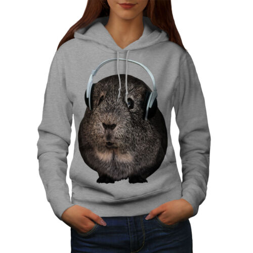 Wellcoda Guinea Pig Beat Funny Womens Hoodie, Animal Casual Hooded Sweatshirt