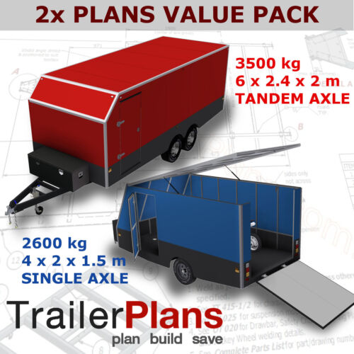 Trailer Plans - 6m ENCLOSED & 4m ENCLOSED MOTORBIKE TRAILER PLANS - on USB
