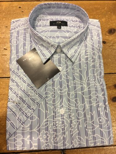 Part Two Short Sleeve Shirt/Blue - XX Large WAS £35.00
