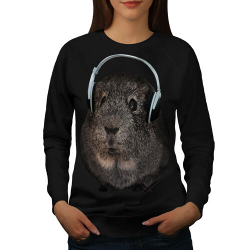 Wellcoda Guinea Pig Beat Funny Womens Sweatshirt, Animal Casual Pullover Jumper