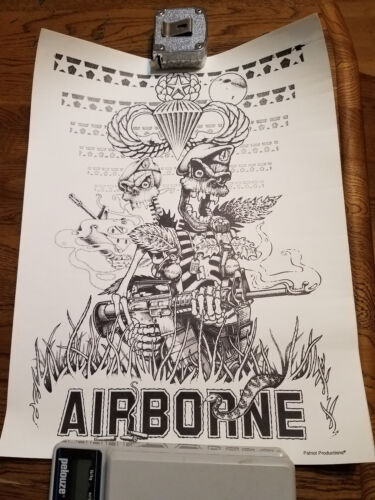 Patriot Productions Military US Special Forces Airborne 13x17 Poster VietnamOther Militaria - 135