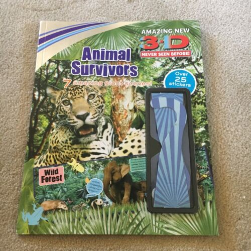 ANIMAL SURVIVORS. TRI-D. WITH 3D GLASSES AND STICKERS. 9781407596198