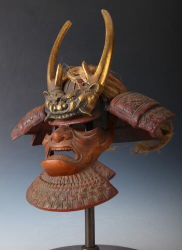 Rare Antique Type Japanese Samurai Helmet -Takeda Shingen Kabuto with a Mask-