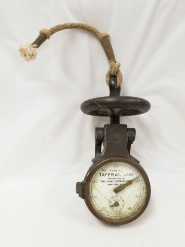 Antique Bronze TAFFRAIL Gauge by THE LIONEL CORPORATION