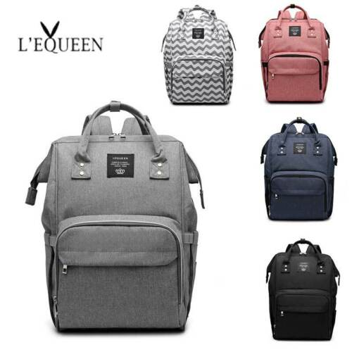 LEQUEEN Mummy Backpack Changing Bag Multifunction Travel Nappy Baby Diaper Bags