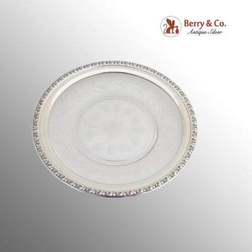 Wallace Rose Dish Sterling Silver Cut Crystal 1940