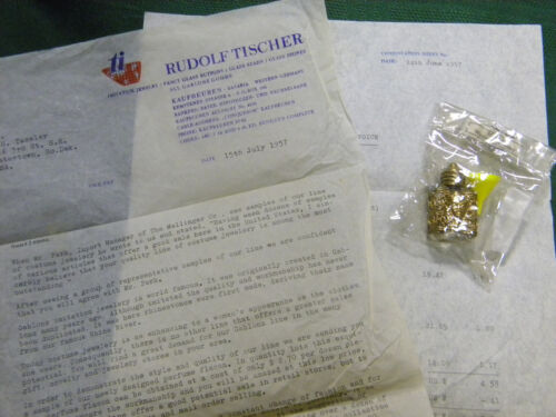 """Rare Vintage Perfume Flacon and Funnel, Intro letter 1957 Western Germany 1 1/2"""""""