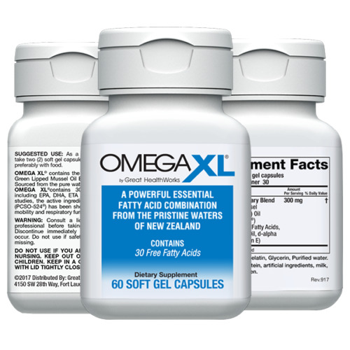 Omega XL 60ct by Great HealthWorks: Small, Potent, Joint Pain Relief - Omega-3 <br/> **OFFICIAL eBay Seller of Omega XL** Great HealthWorks