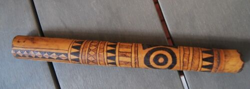 Rare Old Aboriginal Torres Strait Island Bamboo pipe - Museum quality artifact