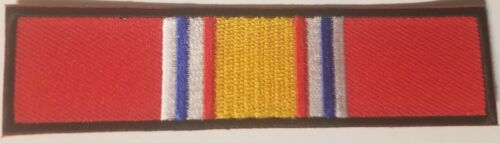 """US Military """"National Defense Ribbon""""  4"""" x 1""""   Iron / Sew-on patchOther Current Military Patches - 36070"""