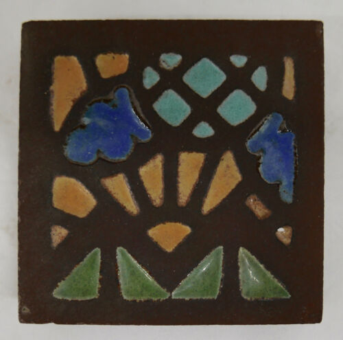 Chunky Vintage Tile with Abstract Mosaic Design (1)
