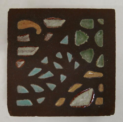 Chunky Vintage Tile with Abstract Mosaic Design (2)