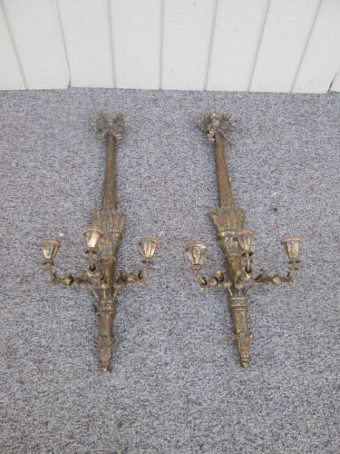 58881  Pair Wall Sconce Candelabra s Lamp s