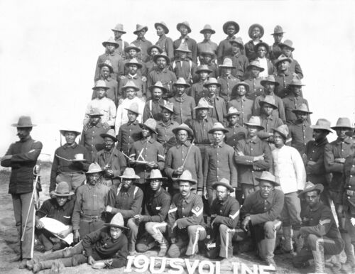 1899-African American Soldiers-Co. 1-9th United States Volunteer Infantry-CubaOriginal Period Items - 10952