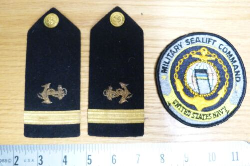 VTG NUDELMAN BROTHERS NAVY UNIFORM SHOULDER BOARDS & MILITARY SEALIFT PATCH #117Other Militaria - 135