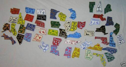 STATE MAGNET COLLECTION  51  U.S. STATE  MAP OUTLINE MAGNETS  MADE IN U.S.A.