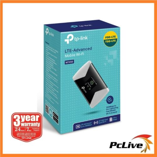 NEW TP-Link M7450 300Mbps 4G LTE Advanced Mobile WiFi Modem Dual Band Sim Card
