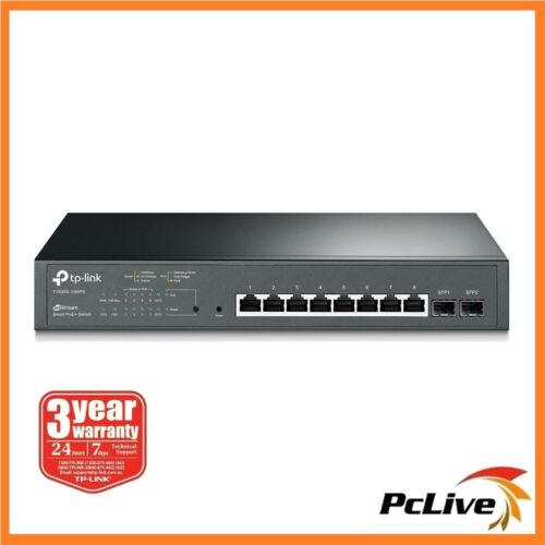 TP-Link T1500G-10MPS 8-Port Gigabit Smart PoE+ Switch with 2 SFP Slots Rackmount