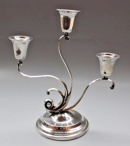 Sale * Dreamlike Art Nouveau candle holder 800 silver  19 / 20 th  Jugendstil