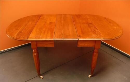 Early Oak Drop Side Extention Table ' Breakfast table ' Country Kitchen c1850's