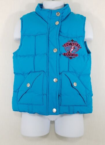 Cowgirl Hardware Toddler Girls Blue Sleeveless Western Vest/Jacket Size-4T