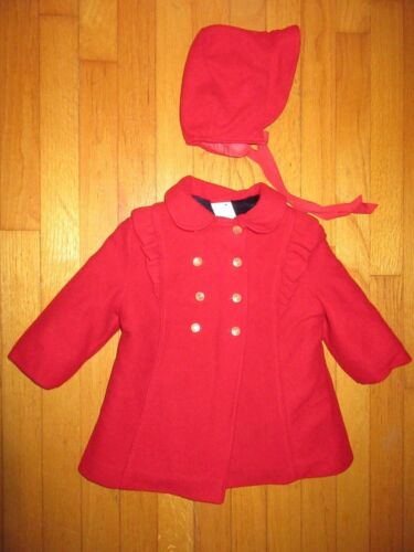VTG Red Coat & Matching Hat size 3 (3T)