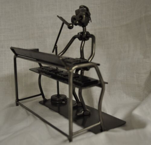 Keyboard Nuts and Bolts Metal Musician Sculpture Figurine