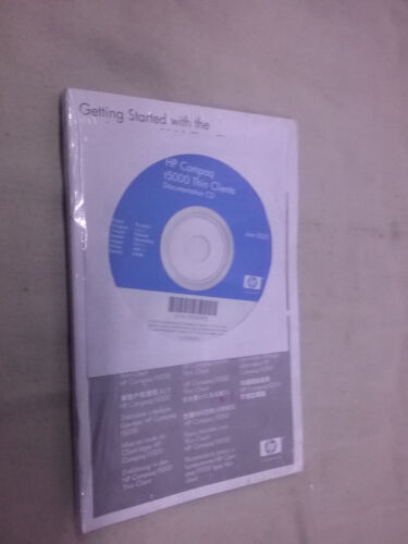 Vintage Genuine *Sealed* HP Thin Clients Documentation CD Manual T5000  Software