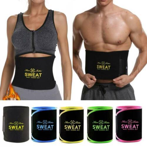 Neoprene Waist Trainer Belt Sweat Trimmer Body Shaper Weight Loss Slim Men Women <br/> Sport Belt Hot Slimming Belt Fajas Trimmer Gym Workout