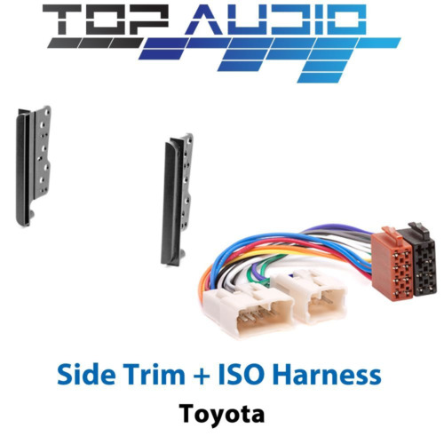 fit Toyota Car Stereo Double Din Dash Facia Fascia Kit + ISO Wiring Harness