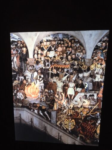 """Diego Rivera """"History Of Mexico Detail"""" Mexican Social Realism 35mm Art Slide"""